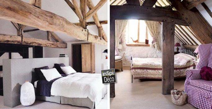 Chambres avec poutres apparentes en bois voici 20 exemples - Deco poutre apparente ...