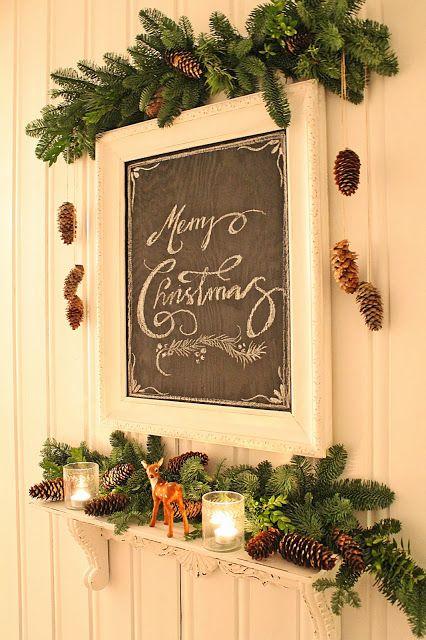 decorazione con ramo di pino 14