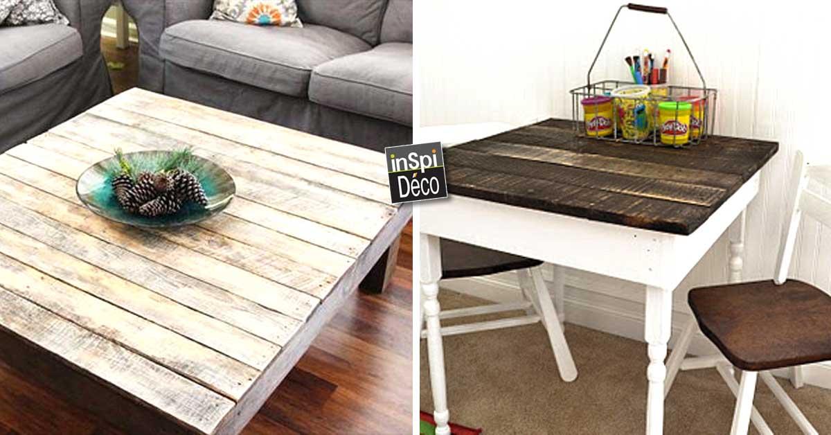 Des tables en palettes de bois 20 id es pour vous inspirer for Table exterieur diy