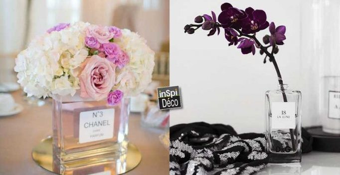 Recycle The Empty Vials Of Perfumes In Beautiful Mini Vases 20 Ideas