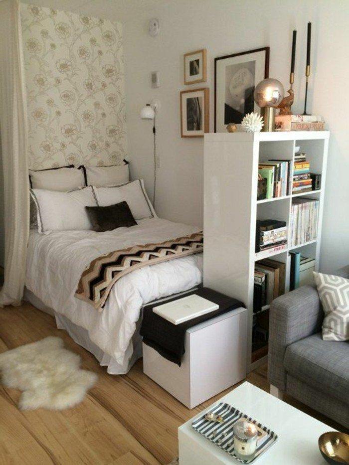 salon et chambre dans la m me pi ce 20 id es pour am nager. Black Bedroom Furniture Sets. Home Design Ideas