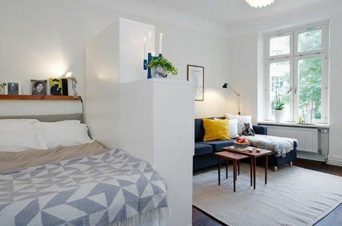 wohnzimmer und schlafzimmer im selben raum! 20 ideen für den, Schlafzimmer ideen