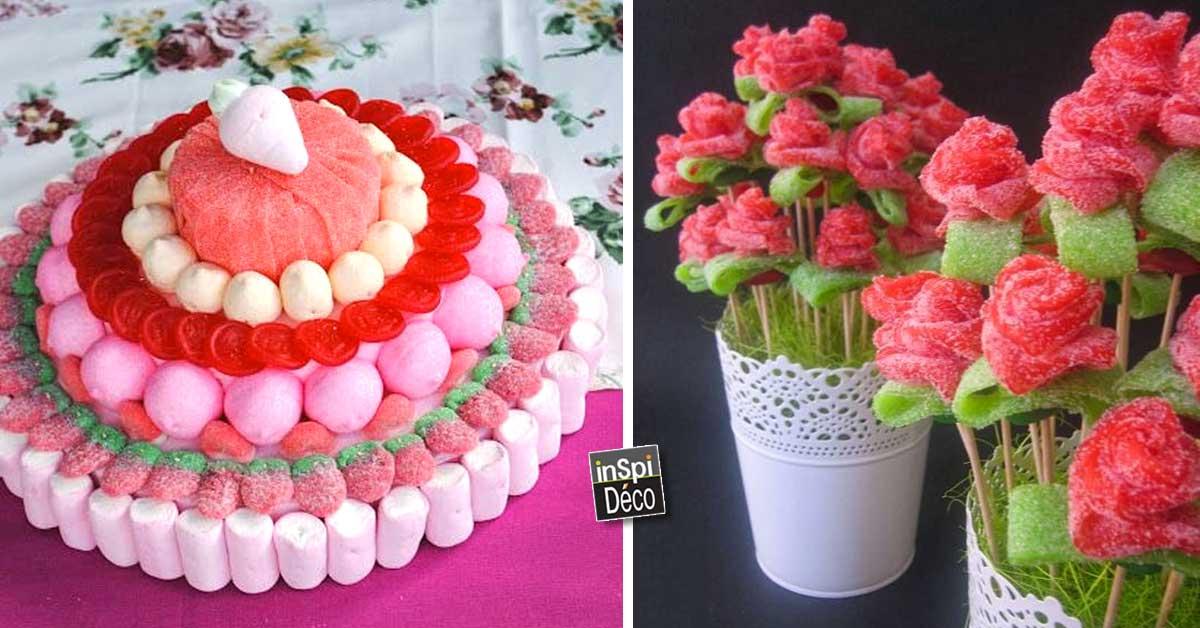 D co insolite avec des bonbons 20 id es pour vous inspirer - Decoration en bonbon pour anniversaire ...