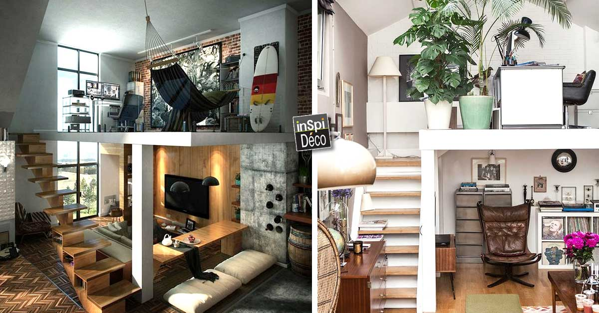 idee deco loft good decoration maison petite surface lgant salon miroir best mode vintage loft. Black Bedroom Furniture Sets. Home Design Ideas