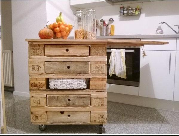 Fabriquer un ilot de cuisine en palettes voici 15 id es - Fabriquer un ilot de cuisine en bois ...