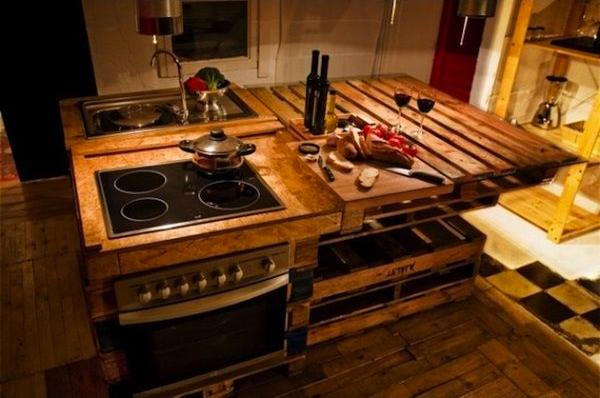 Super Fabriquer un ilot de cuisine en palettes! Voici 15 idées pour vous  FM98