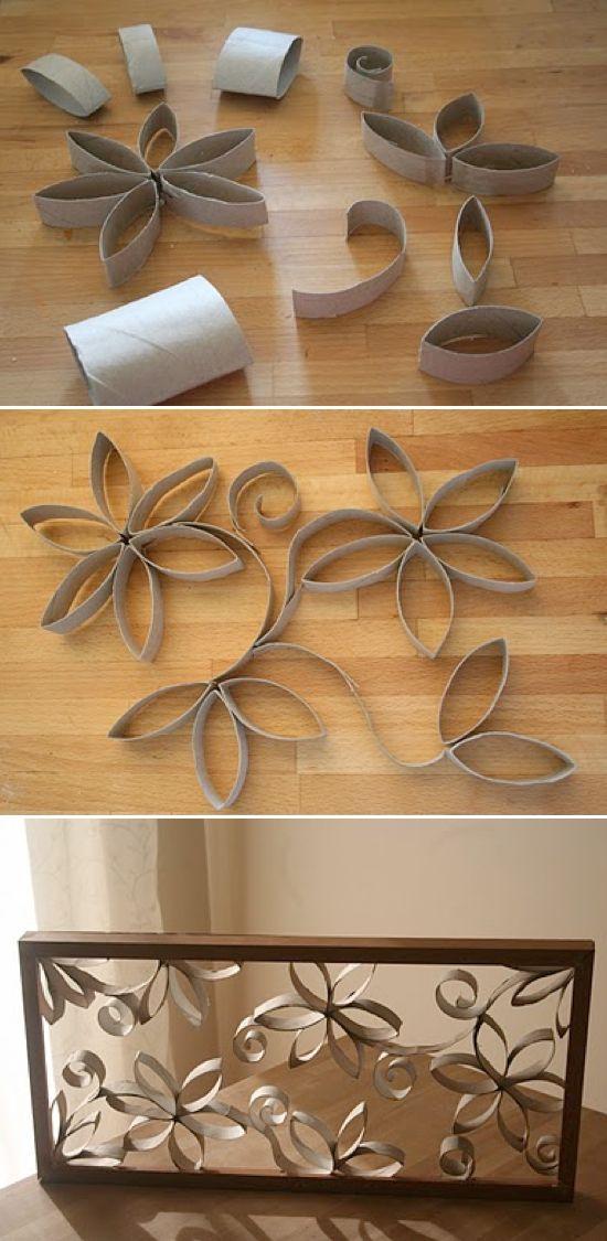 Панно из рулонов туалетной бумаги