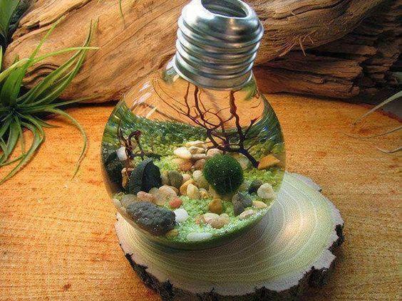 riciclaggio di vecchie lampadine creativo! 10 idee per ispirarvi... - Lampade Riciclo Creativo