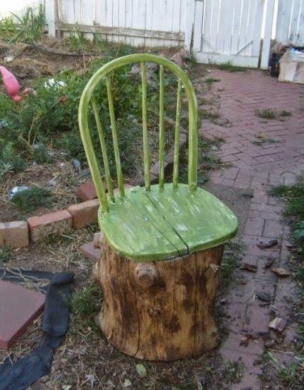 riciclo creativo vecchia sedia 7