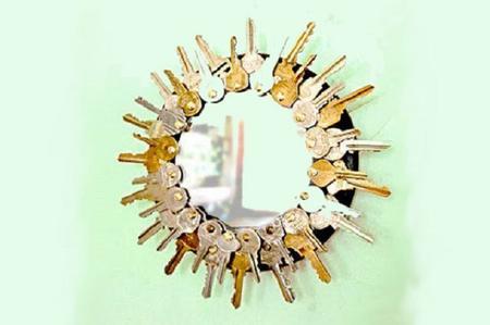 riciclo creativo vecchie chiavi 14