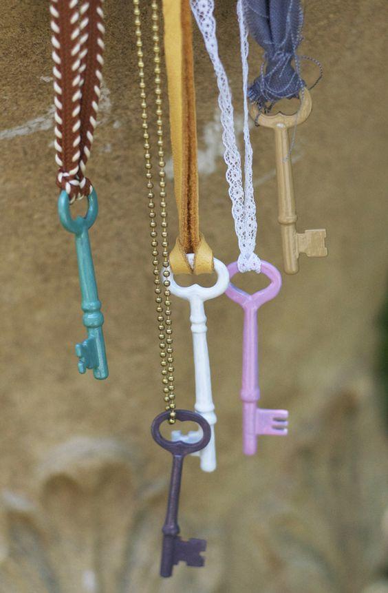 riciclo creativo vecchie chiavi 15