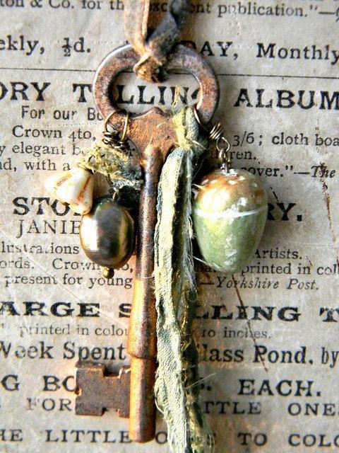 riciclo creativo vecchie chiavi 16