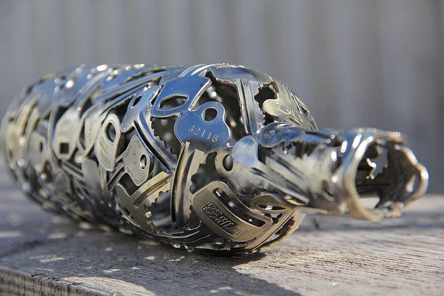 riciclo creativo vecchie chiavi 5