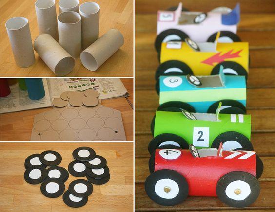Recycler rouleaux de papier toilette