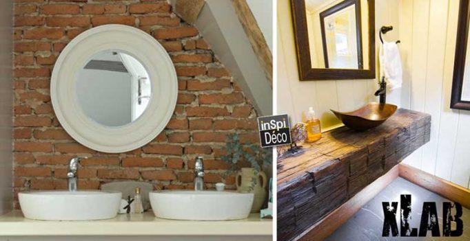 Salle de bain rustique voici 20 id es inspirantes for Salle bain rustique