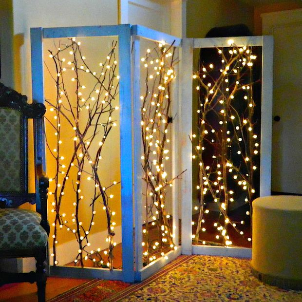 Make a room divider in recycling materials 20 inspiring ideas