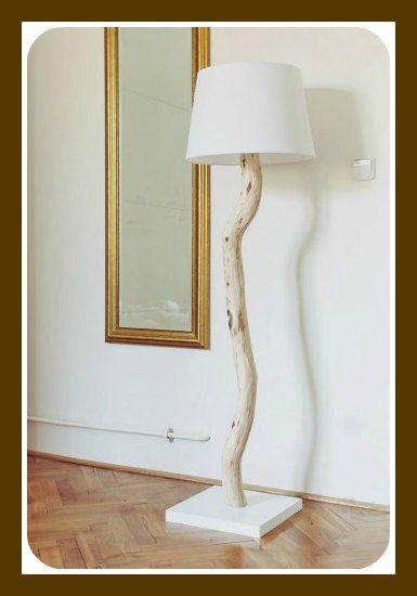 tronco lampada