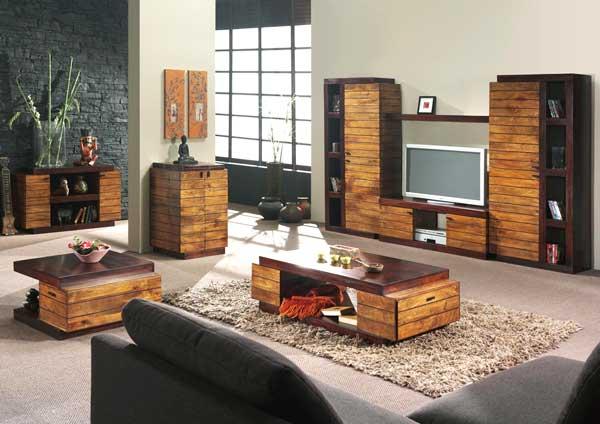 idee arredamento legno salone