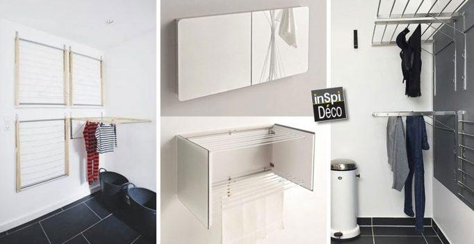 etendoirs malins voici 20 id es gain de place pour. Black Bedroom Furniture Sets. Home Design Ideas