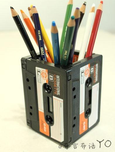 riciclare cassette audio 8