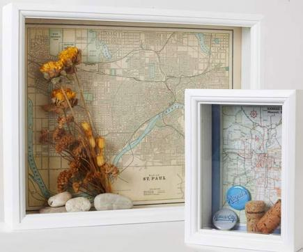 Riciclare vecchia cartina geografica