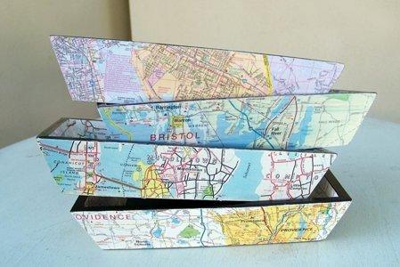 riciclo mappa geografica 5