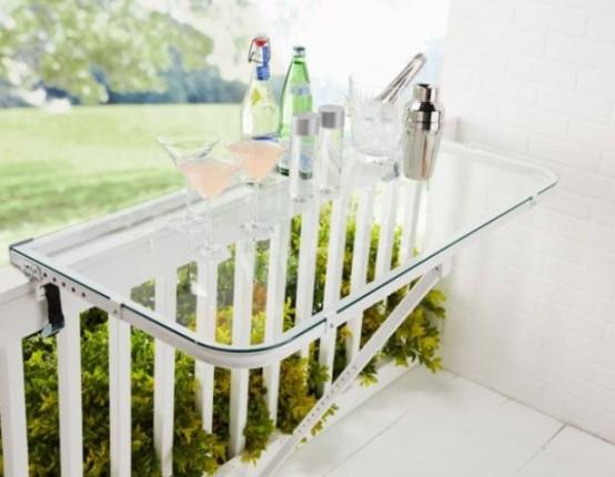 tavolino pieghevole per il balcone