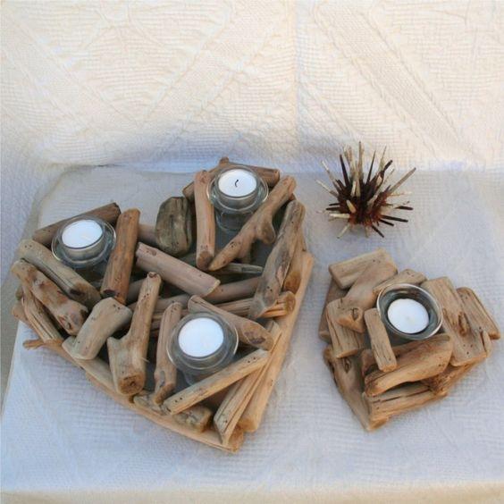 decorazioni fai da te con legno di mare 14