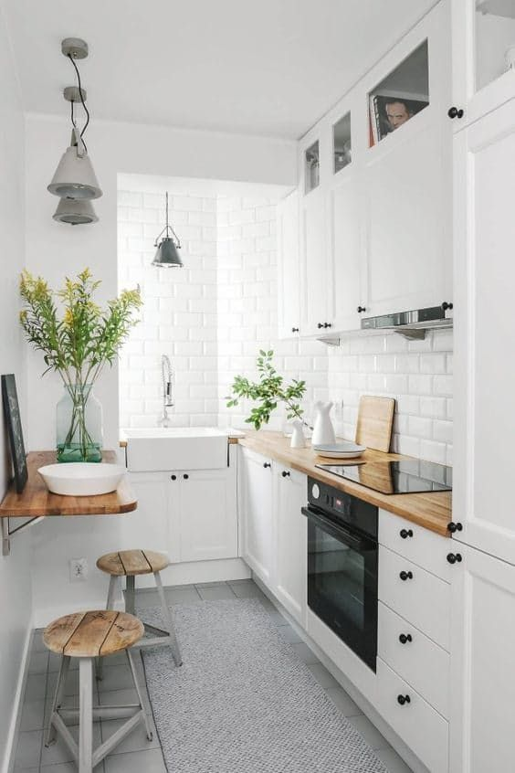 Am nager une cuisine en longueur 20 exemples pour vous for Amenagement cuisine en longueur