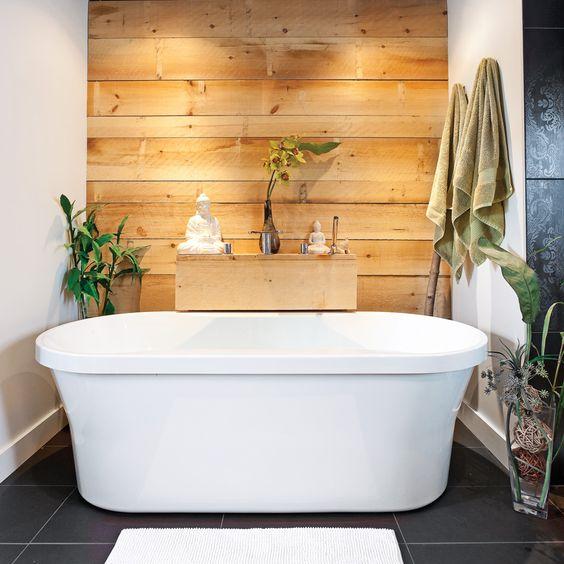Inspi déco pour mettre en valeur une baignoire