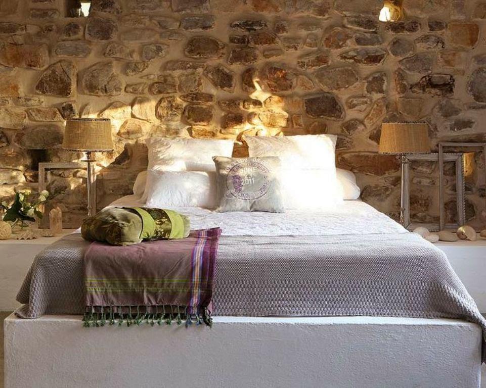 Des pierres dans la chambre à coucher
