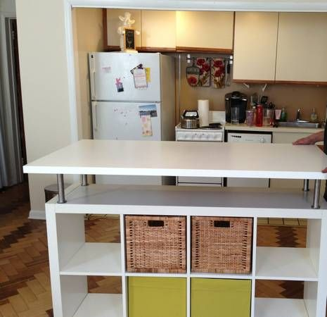 idee scaffali IKEA isola cucina 16