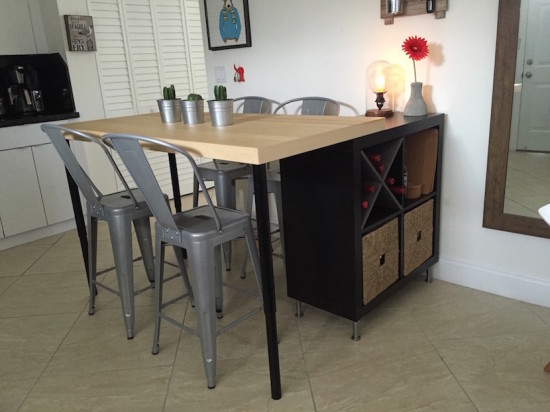 idee scaffali IKEA isola cucina 5