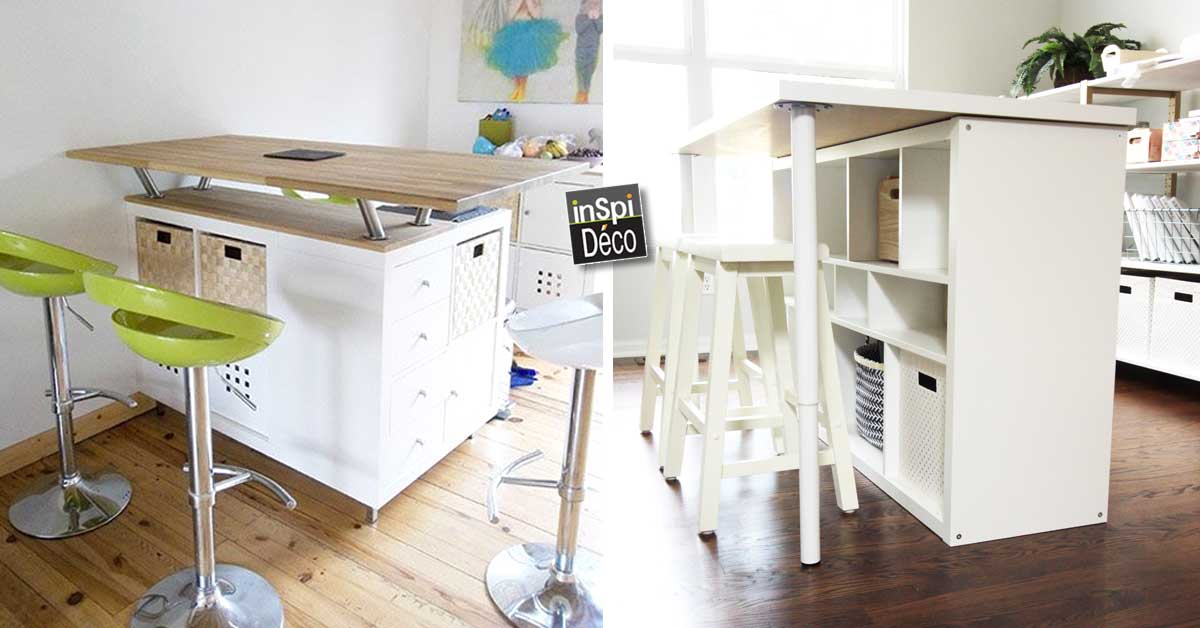 trendy transform an ikea shelf in a kitchen island. Black Bedroom Furniture Sets. Home Design Ideas
