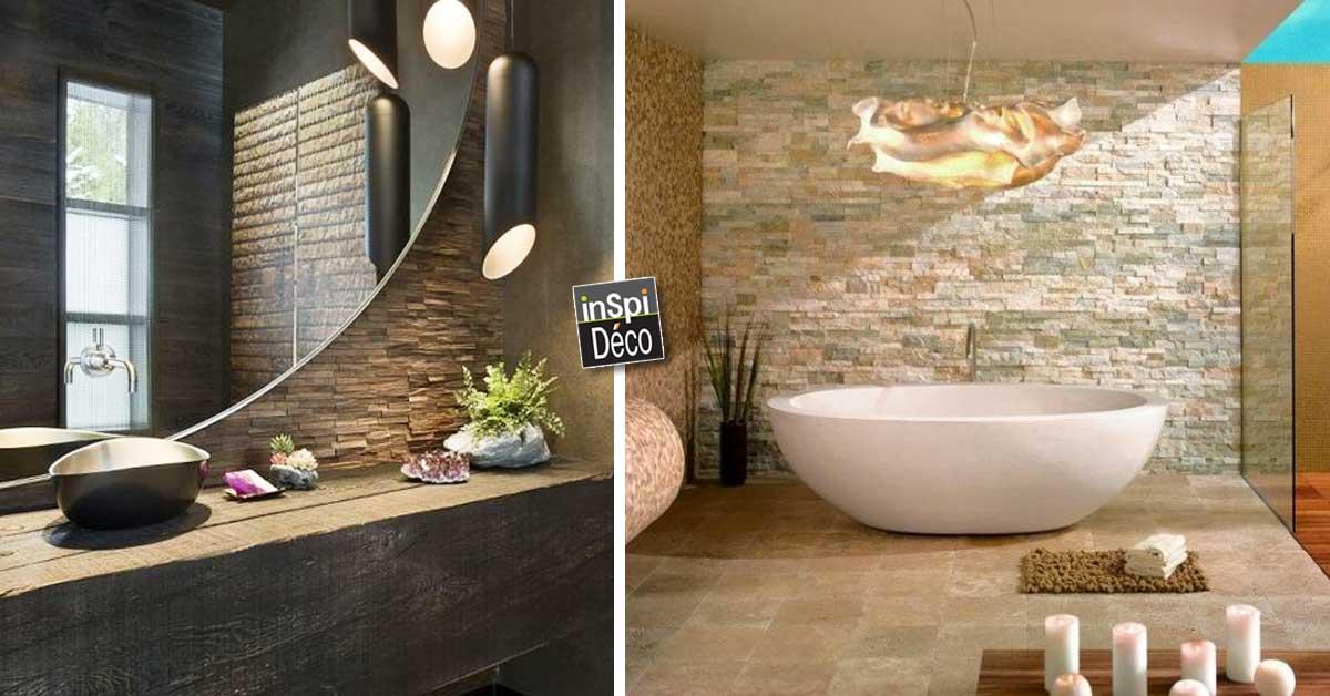 Des pierres dans la salle de bain 20 id es inspirez vous for Pierre pour salle de bain