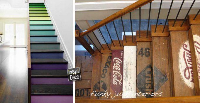 Assez Décorer ses escaliers avec fantaisie! Voici 20 idées inspirantes NE96