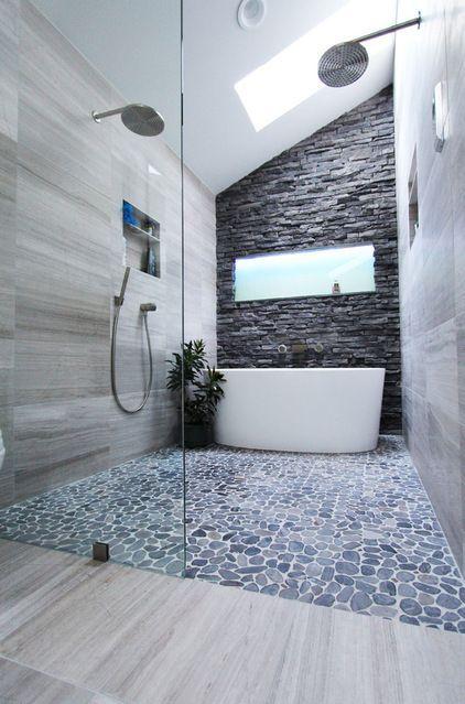 Des pierres dans la salle de bain