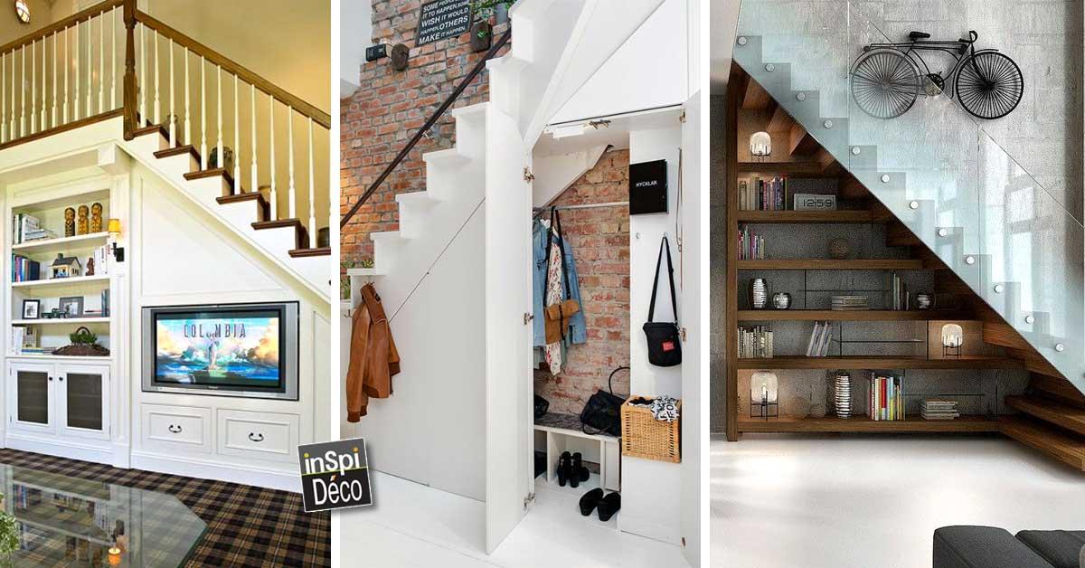 deco sous escalier latest deco sous escalier with deco sous escalier best rangement sous. Black Bedroom Furniture Sets. Home Design Ideas