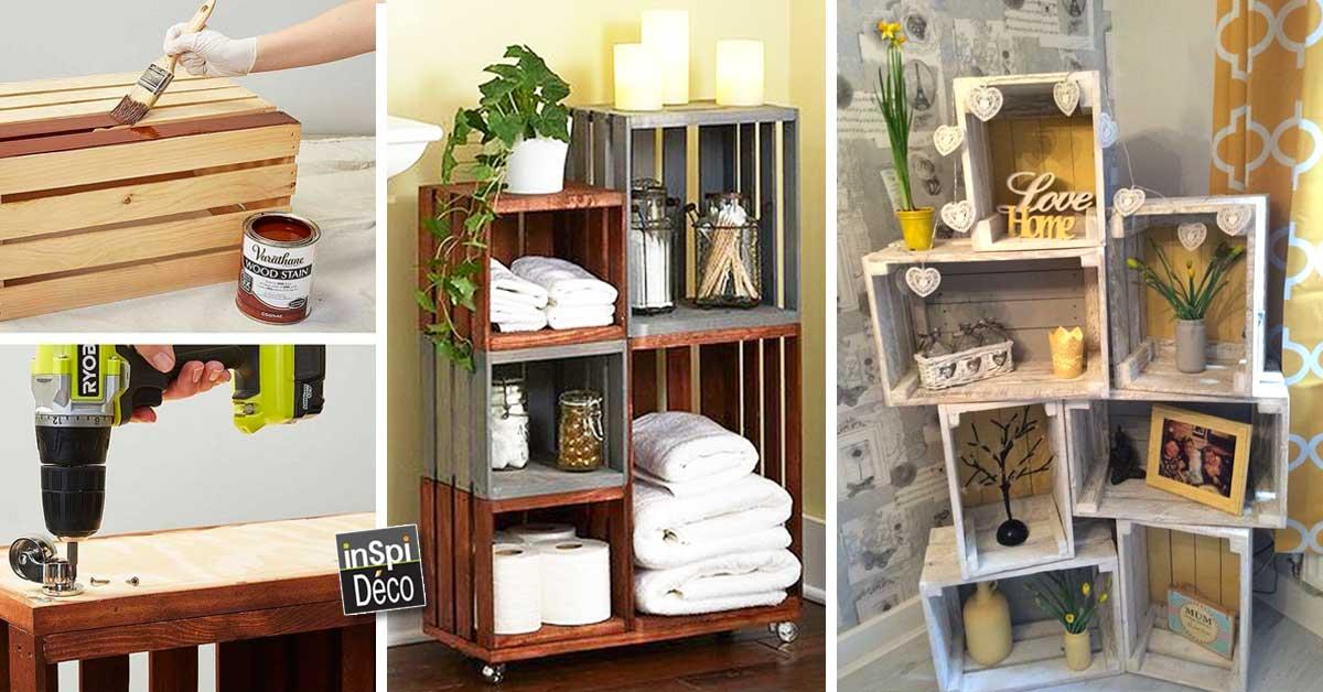 d co avec des caisses en bois 20 id es laissez vous inspirer. Black Bedroom Furniture Sets. Home Design Ideas