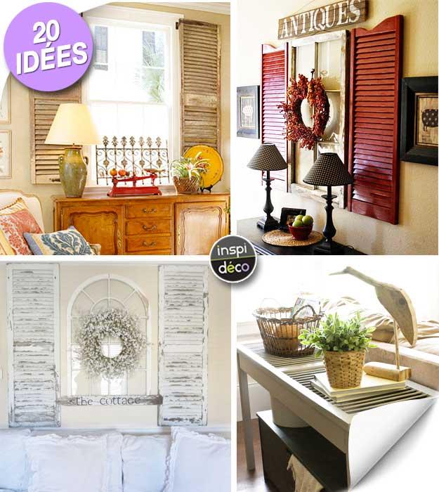 récupérer de vieux volets pour décorer la maison 20 idées