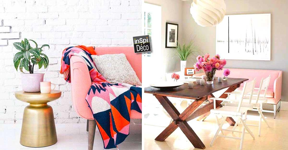 Un divan rose j 39 ose 20 id es pour l 39 int grer dans sa for Acheter un divan