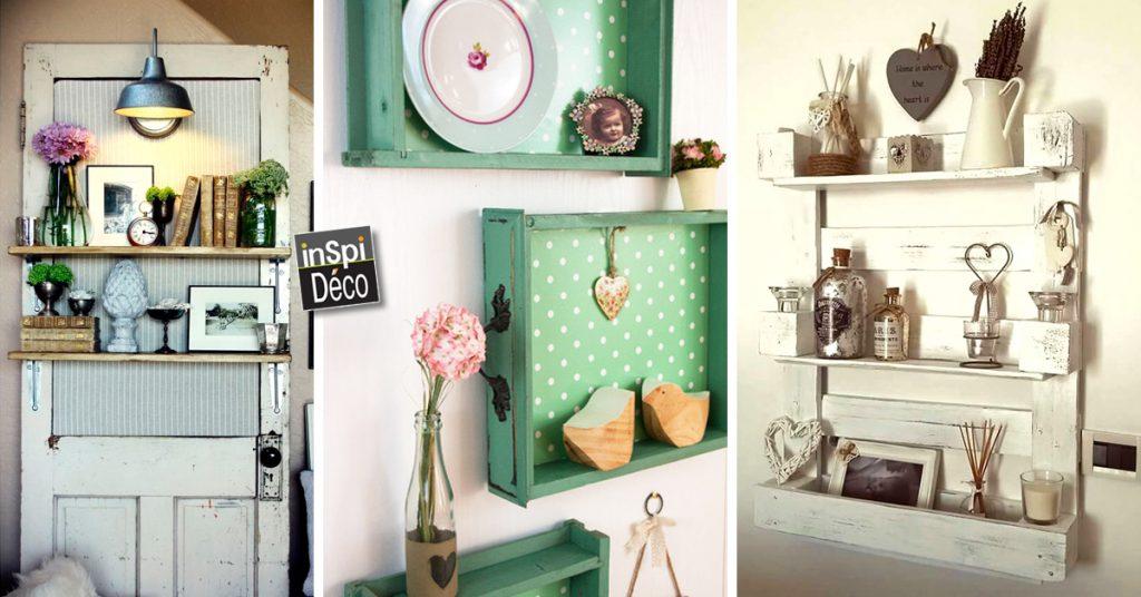 Une étagère à faire soi même avec des matériaux de récup ...