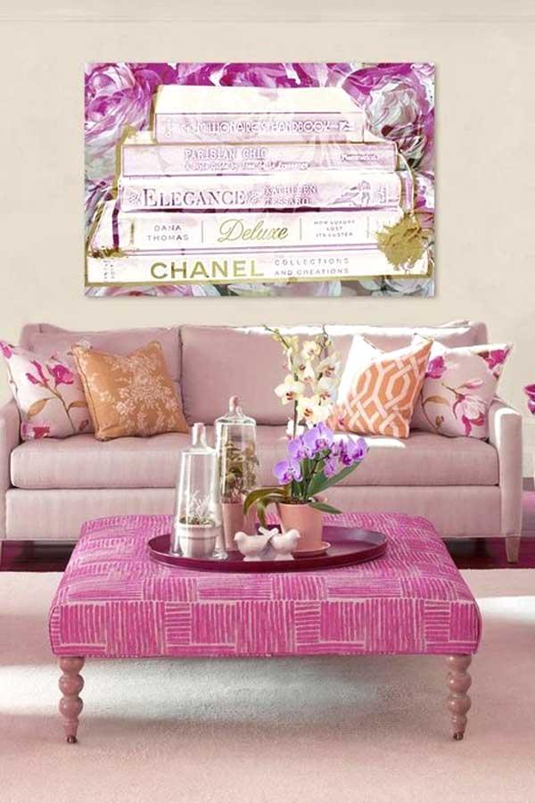 Un divan rose