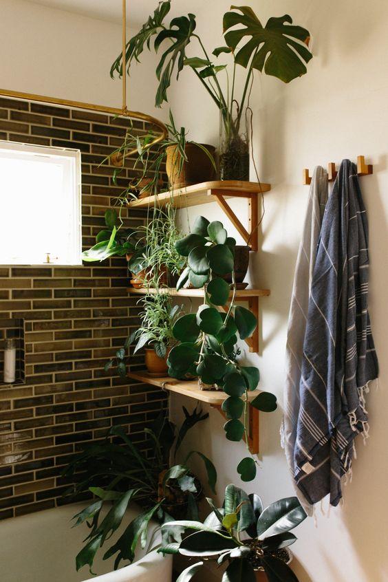 inspi pour d corer la salle de bain avec des plantes 20. Black Bedroom Furniture Sets. Home Design Ideas