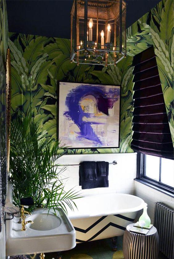 idee decorazione bagno con piante 20