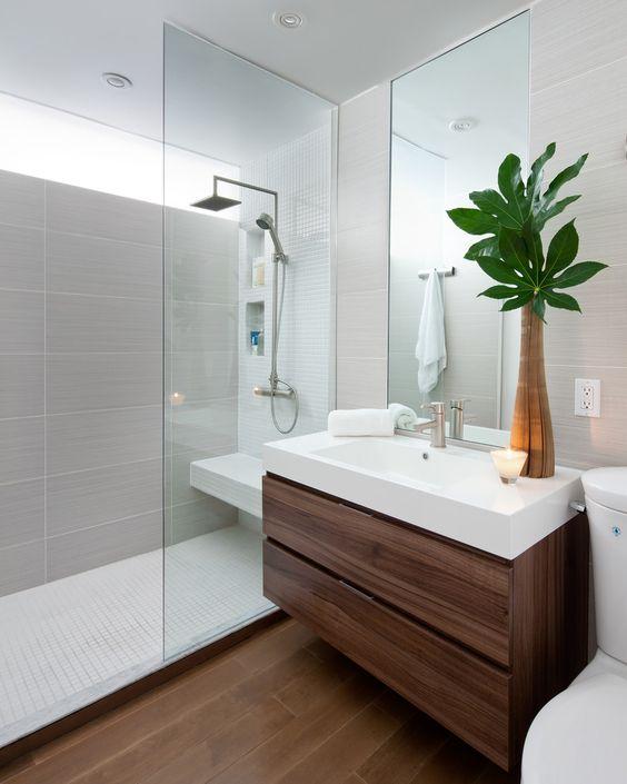 idee decorazione bagno con piante 7