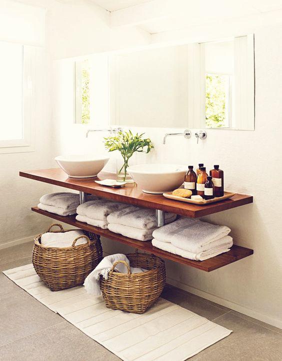 Inspi pour d corer la salle de bain avec des plantes 20 id es d co - Decorer salle de bain ...