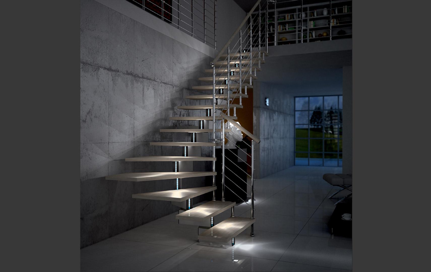 Led pour les escaliers voici 20 id es d co pour vous inspirer - Luci per scale ...