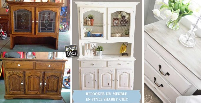 relooker un vieux meuble style shabby chic vid o 20 exemples. Black Bedroom Furniture Sets. Home Design Ideas