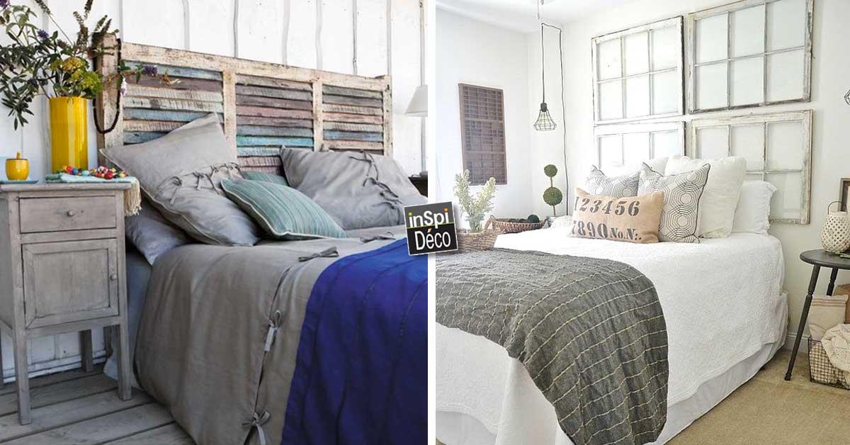 T te de lit originale 20 id es d co pour vous inspirer - Tete de lit recup ...